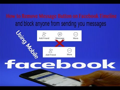 How to Remove Message Button on Facebook Timeline using mobile
