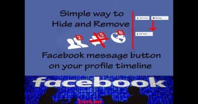 طريقة اخفاء زر الرسائل في فيسبوك