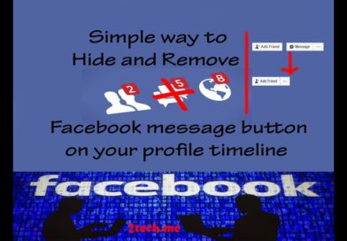 How to Remove Message Button on Facebook