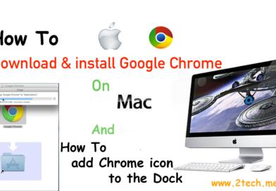 شرح طريقة تنزيل وتثبيت متصفح جوجل كروم Google Chrome في نظام الماك