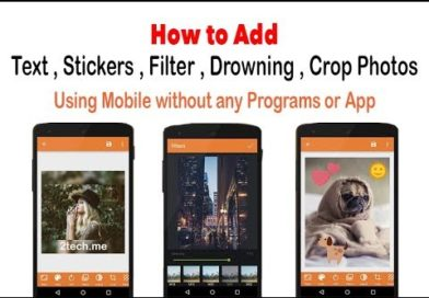 How to Add Text to Image on Mobile Without any application