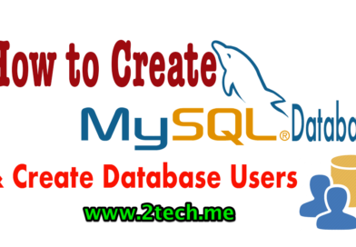 How to Create MySQL Database and Users