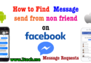 How to Find  Message Requests on Facebook Messenger