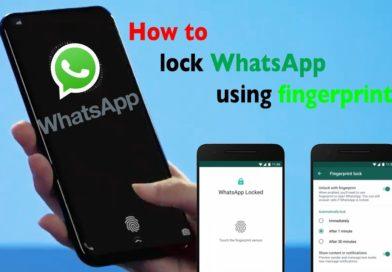 how to lock WhatsApp using fingerprint on Mobile