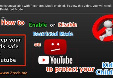شرح طريقة تفعيل خاصية الرقابة الأبوية على منصة YouTube لحماية أطفالك من المحتوى المخل و السيء