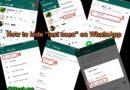 """How to Hide """"Last Seen"""" in WhatsApp"""