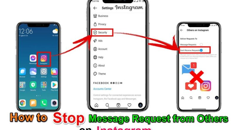 How To Stop Message Request from Others On Instagram